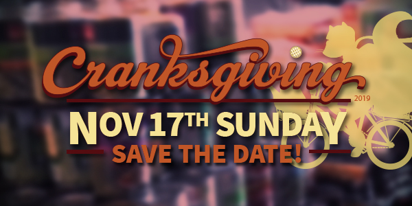 Raleigh's 6th Annual Cranksgiving — Save the date!